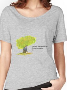 Calvin is a procrastinator Women's Relaxed Fit T-Shirt