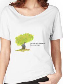 Calvin is a procrastinator Women's Relaxed Fit T-Shirt