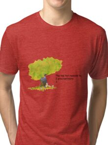 Calvin is a procrastinator Tri-blend T-Shirt