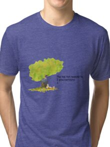 Calvin is a procrastinator Tri-blend T-Shirt