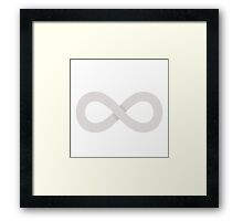 The 100 - Infinity symbol Framed Print