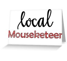 Local Mouseketeer (plain) Greeting Card