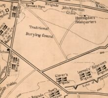 American Revolutionary War Era Maps 1750-1786 980 Valley Forge encampment Dec 19 1777 to June 18 1778 Sticker