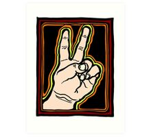 Peace Brother, Sister COLORIZED Art Print