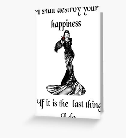 Once upon a time- Evil queen Greeting Card