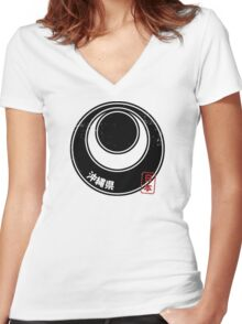 OKINAWA Japanese Prefecture Design Women's Fitted V-Neck T-Shirt