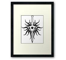 Dragon Age Inquisition Logo Framed Print