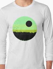 Black shades on the forest Long Sleeve T-Shirt