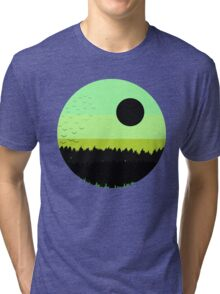 Black shades on the forest Tri-blend T-Shirt