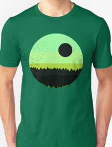 Black shades on the forest Unisex T-Shirt