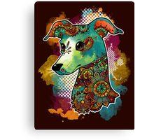 Bohemian Italian Greyhound Canvas Print