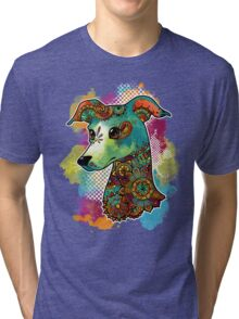 Bohemian Italian Greyhound Tri-blend T-Shirt