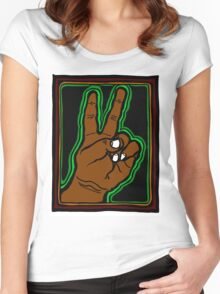 Peace Brother, Sister COLORIZED VARIATION 1 Women's Fitted Scoop T-Shirt