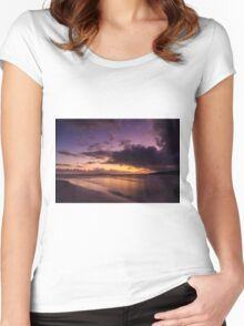 First Autumn Sunrise Women's Fitted Scoop T-Shirt