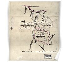 205 Map showing location lot no 10 of Moore Beckley patent Raleigh Co W Va 10 000 a included Poster
