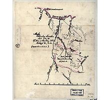 205 Map showing location lot no 10 of Moore Beckley patent Raleigh Co W Va 10 000 a included Photographic Print