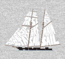 Tops'l Schooner Sail/Spar Plan One Piece - Long Sleeve
