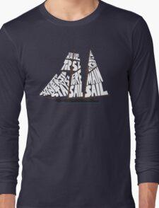 Tops'l Schooner Sail/Spar Plan Long Sleeve T-Shirt