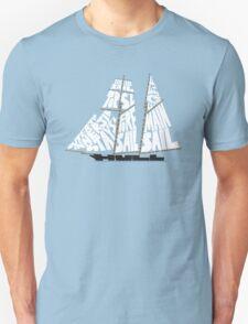 Tops'l Schooner Sail/Spar Plan Unisex T-Shirt