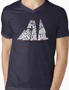 Tops'l Schooner Sail/Spar Plan Mens V-Neck T-Shirt