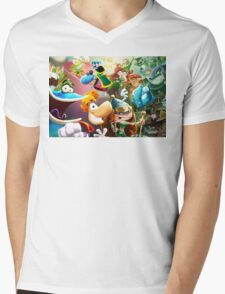 Rayman Mens V-Neck T-Shirt