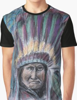 Geronimo with headdress colorful pastel Graphic T-Shirt
