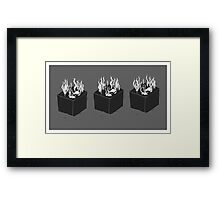 Seaweed Cubes Framed Print