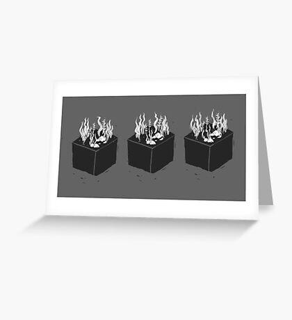 Seaweed Cubes Greeting Card
