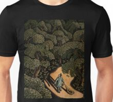 Man in Money Forest, with Leaves of Dollars Unisex T-Shirt