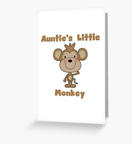 Kids Auntie's Little Monkey Greeting Card
