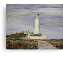 St. Mary`s Lighthouse Canvas Print