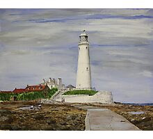 St. Mary`s Lighthouse Photographic Print