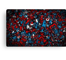 Red and Blue Canvas Print