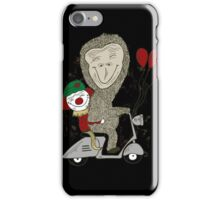 Fun Gorilla and Clown on Scooter iPhone Case/Skin