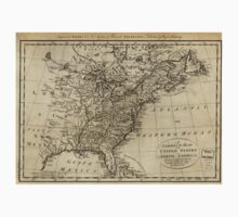American Revolutionary War Era Maps 1750-1786 019 A correct map of the United States of North America including the British and Spanish territories carefully Kids Tee