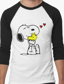 Snoopy in Love Men's Baseball ¾ T-Shirt