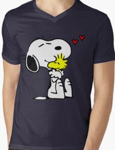 Snoopy in Love Mens V-Neck T-Shirt