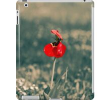 Lonely Red Flower iPad Case/Skin