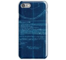 American Revolutionary War Era Maps 1750-1786 832 Plat of a survey of 2314 acres of land being the first large bottom on the east side of the Ohio River 3 or Inverted iPhone Case/Skin