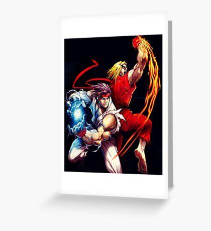 Ken and Ryu  Greeting Card