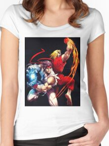 Ken and Ryu  Women's Fitted Scoop T-Shirt