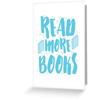 READ MORE BOOKS Greeting Card