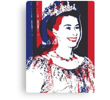 Young Queen Elizabeth II Canvas Print