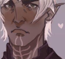 """Fenris """"I enjoy following you"""" - Dragon Age Sticker"""