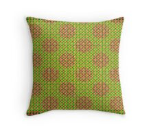 Lime Flowerdots Throw Pillow