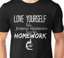 Love Yourself like Simmons Loves Her Homework - AoS Unisex T-Shirt
