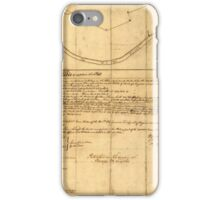 American Revolutionary War Era Maps 1750-1786 830 Plat of a survey of 2314 acres of land being the first large bottom on the east side of the Ohio River 3 or iPhone Case/Skin