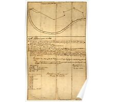 American Revolutionary War Era Maps 1750-1786 830 Plat of a survey of 2314 acres of land being the first large bottom on the east side of the Ohio River 3 or Poster