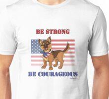 Patriotic German Shepherd Puppy Unisex T-Shirt