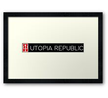 Utopia Republic Emblem. Framed Print